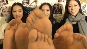 Nylon feet asian My kinky