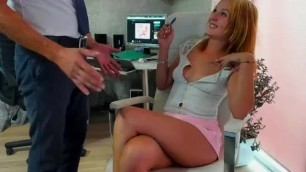 Nice Teasingshow in the Office (2)