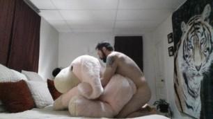 Fucking my Huge Plush Penelope Pup