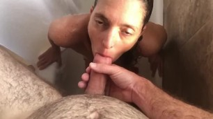 Hotasswife Sucking and Licking in the Shower