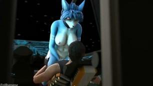Krystal Star Fox Cock Riding in Space