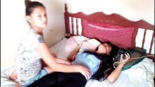 Curious Venezuelan Girls ... Tickle Challenge Part II Revenge F/F