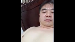胖大叔撸射