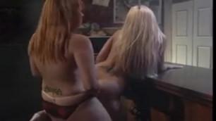 Strapon Lesbians in a Bar