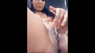 PLAYING MY PUSSY ON CAM AND TASTED MY CREAMY