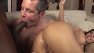 she takes bbc anal and cuckold hubby suck and cleans