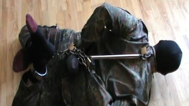 Hogcuffed militaryslave