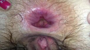 Wife anal fuck with huge gape