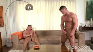 Muscled Hot Twins Brad & Brian B.  jerkin n cumin together