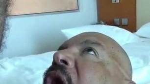 latino swallowing hot cum